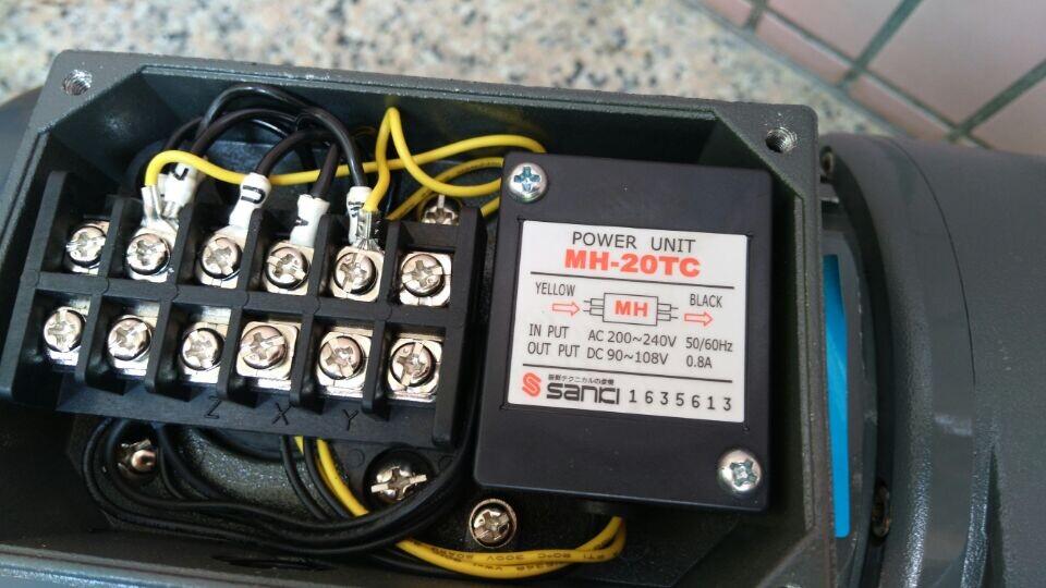 城邦带刹车减速电机刹车电机整流器mh-20tc/mh-25接线